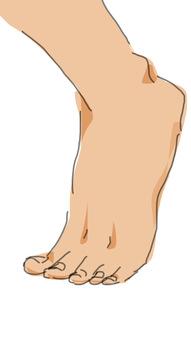 なんだか最近靴を履くと痛い。よく見ると足の小指が薬指の方向に曲がってしまっている。一体これは・・・